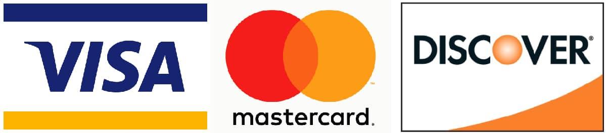 visa, mastercard, discover card logos