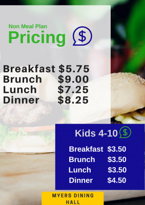 Dining hall pricing