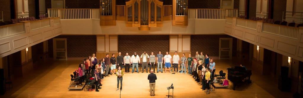 porter center choir practice