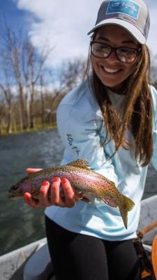 Abbi Bagwell holding fish
