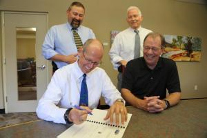 Criminal Justice scholarship signing
