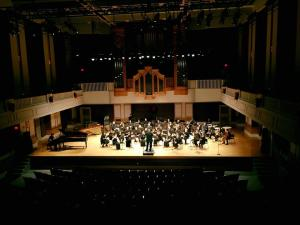 wind ensemble concert at the porter center