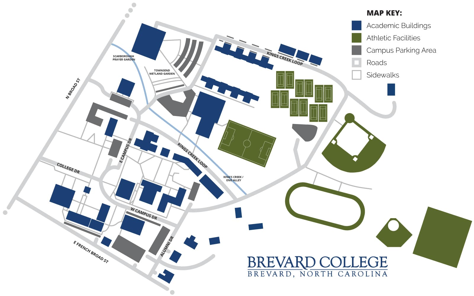 King University Campus Map.Brevard College Campus Map View Download Brevard College