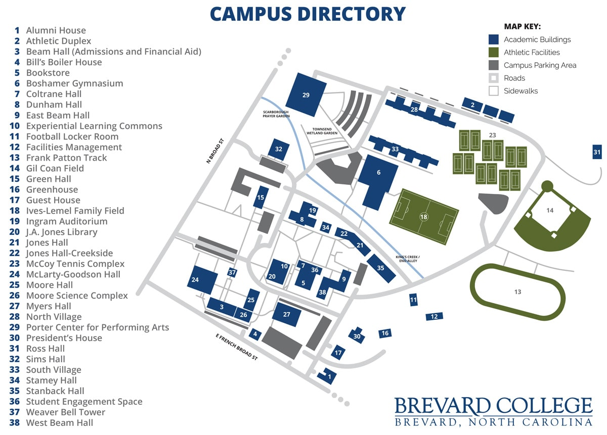 South Mountain Community College Campus Map.Brevard College Campus Map View Download Brevard College