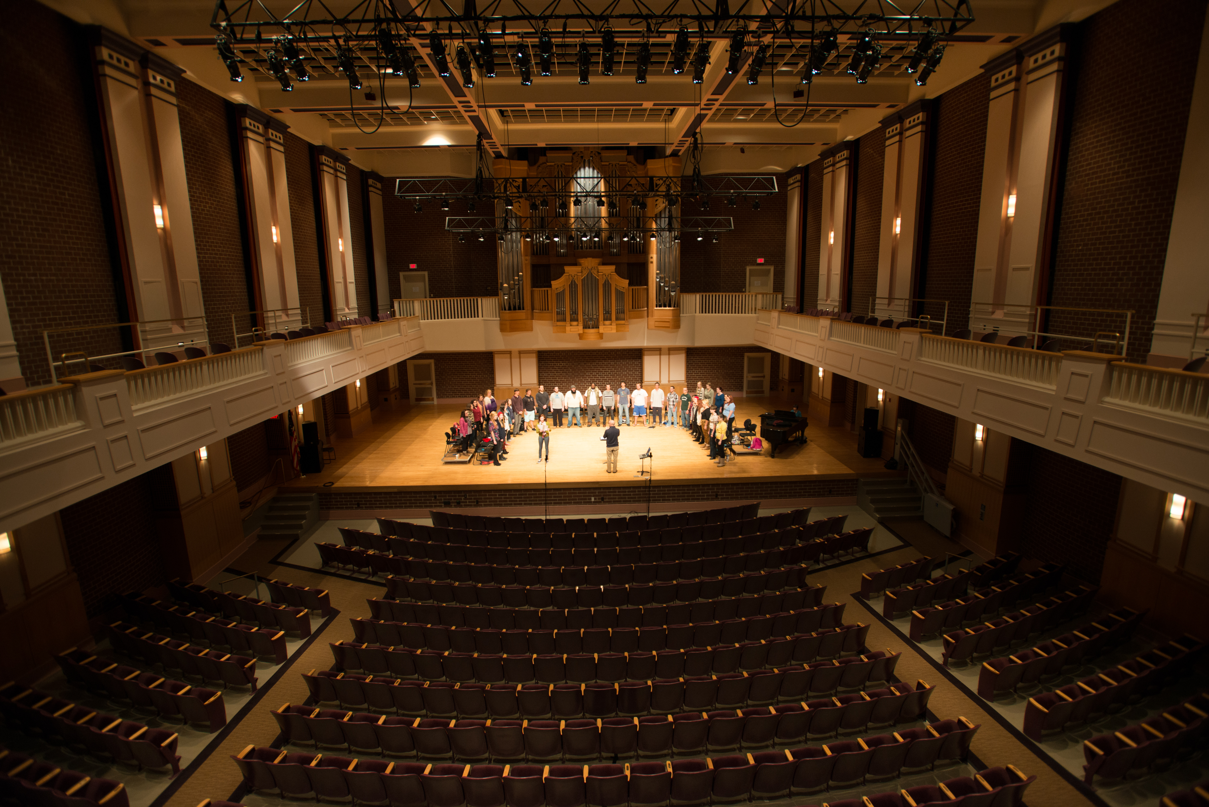 Brevard College Auditorium with Practice Choir