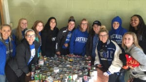 Brevard student athletes collect nearly 1000 canned goods for local foodbank