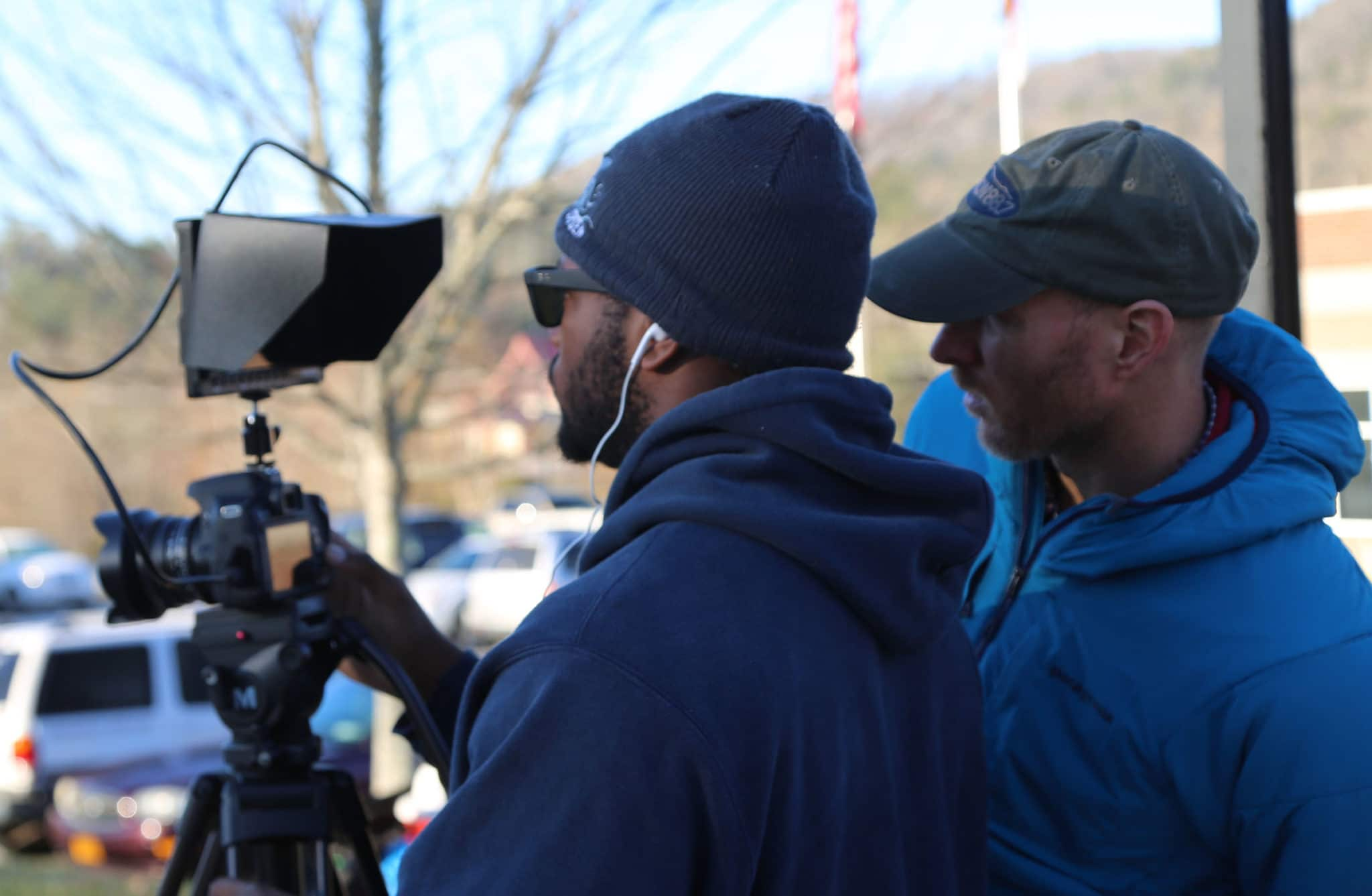 student films with help from professor T.C Webb