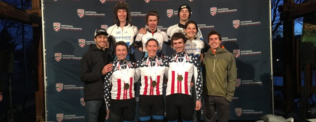 Brevard Cycling team wins team relay in the Division 1 cyclocross national championships