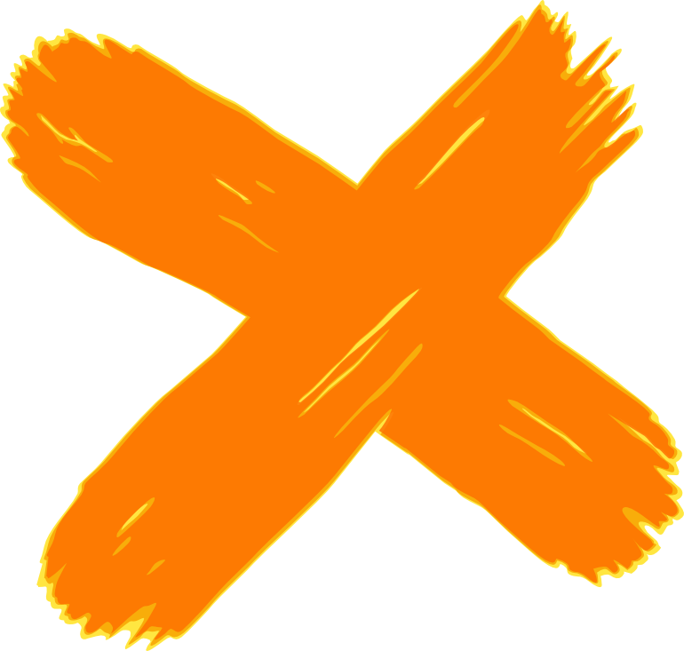 Fossil Free Logo - Orange X on white background