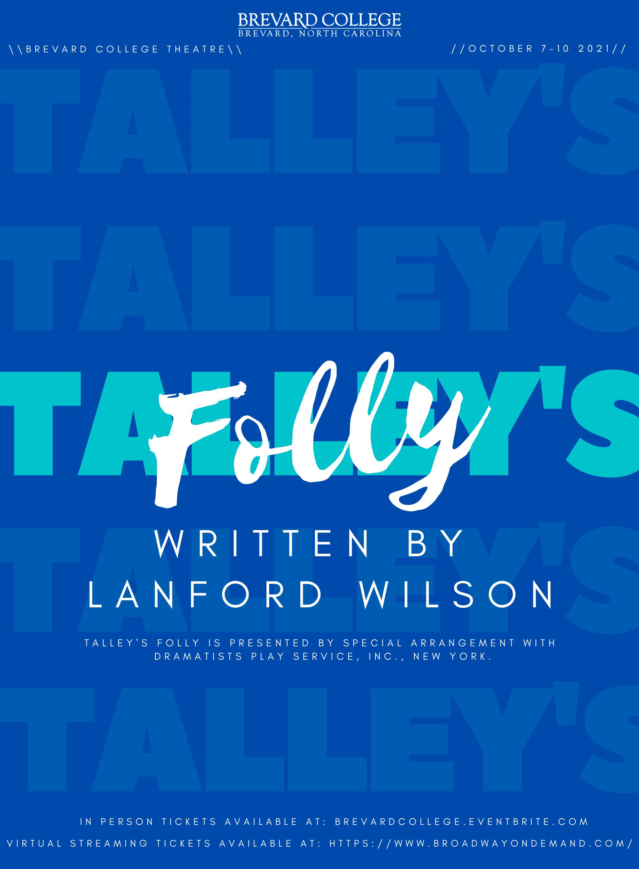 Talleys Folly poster NEW